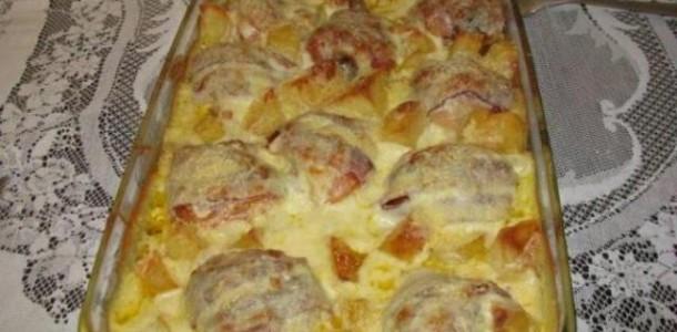 receita de Coxa de frango ao requeijão e bacon