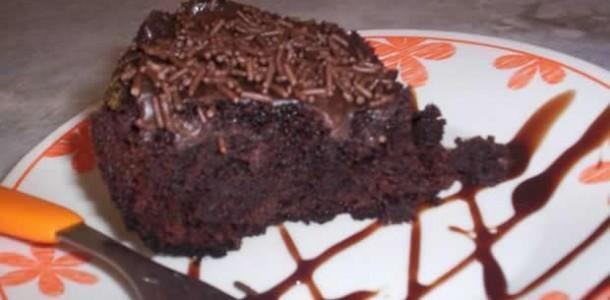 receita bolo de chocolate molhadinho