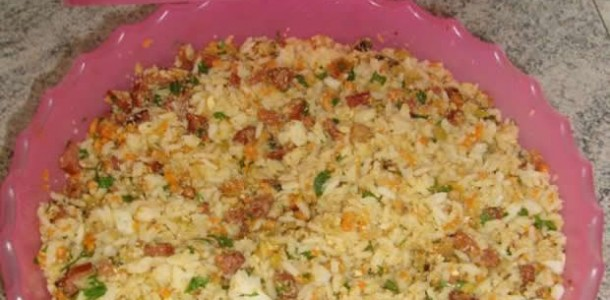 arroz farofa divino para churrasco