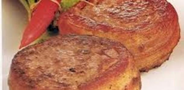 medalhão de carne móida com bacon
