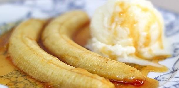 receita banana caramelizada
