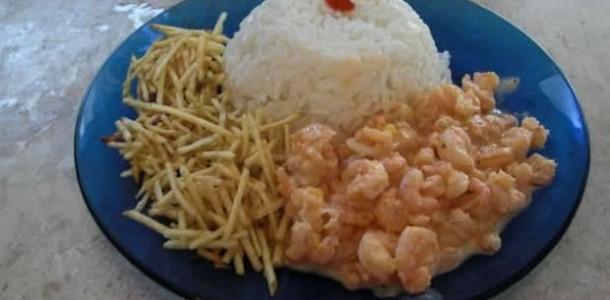 receita camarão com requeijão