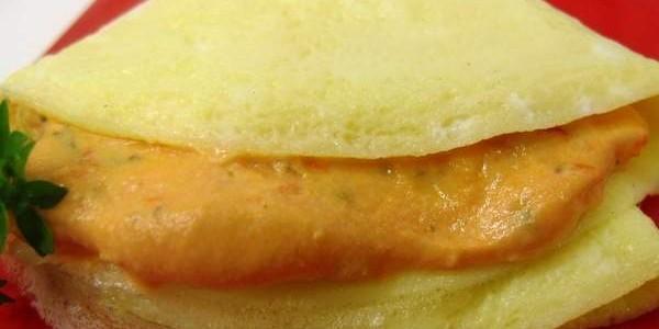 Receita crepe de ovo