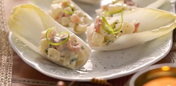 receita endívias recheadas com salmão