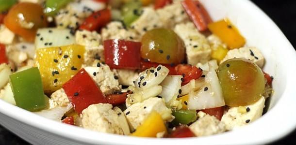 Receita Salada de Tofu