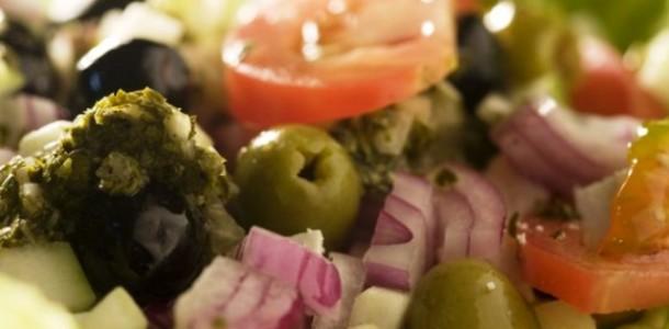 receita salada grega
