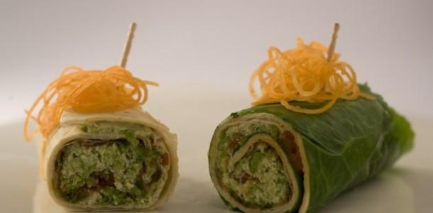 receita wrap vegetariano