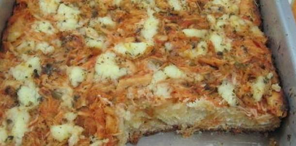 Pizza Caseira Frango com Catupiry