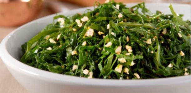 receita salada morna de couve