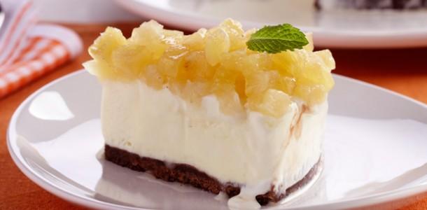receita torta gelada de abacaxi