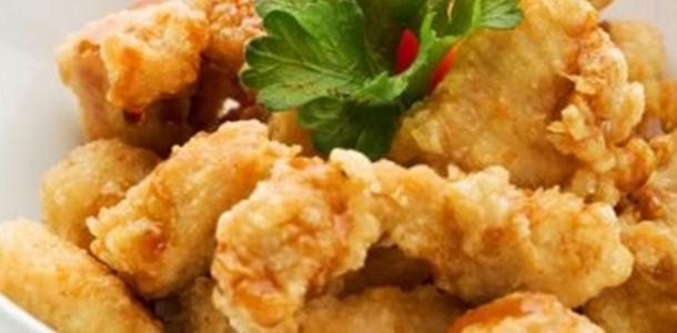 receita camarão empanado à moda chinesa