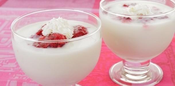 receita frozen de iogurte