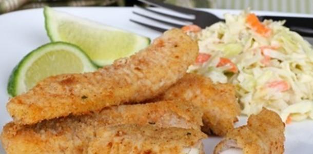 receita petisco peixe à milanesa