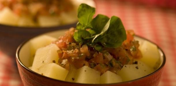 receita salada quente de batata light