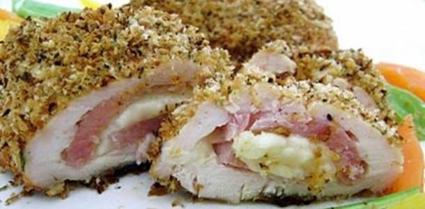 receita frango recheado crocante