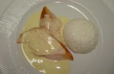 Frango na Mostarda ao molho de laranja