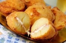Batata Frita Recheada Presunto e Queijo