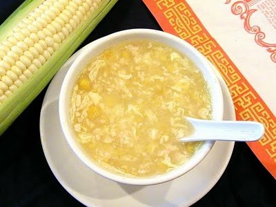 receita caldo de milho com frango