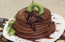 receita panqueca americana de chocolate