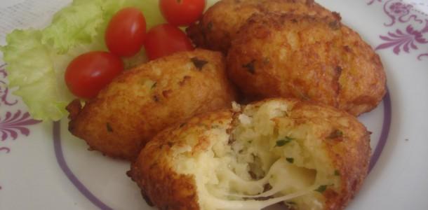 receita bolinho de arroz e batata