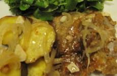 receita porco assado com batata doce