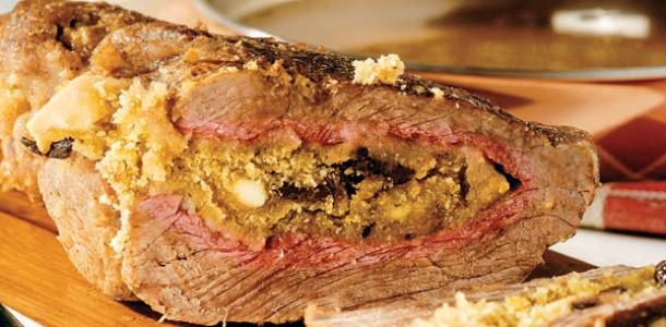 Carne Recheada assada
