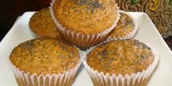 receita muffins de banana com papoula