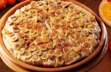 receita pizza doce de banana fácil