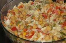 Salada Grão-de-Bico e Bacalhau
