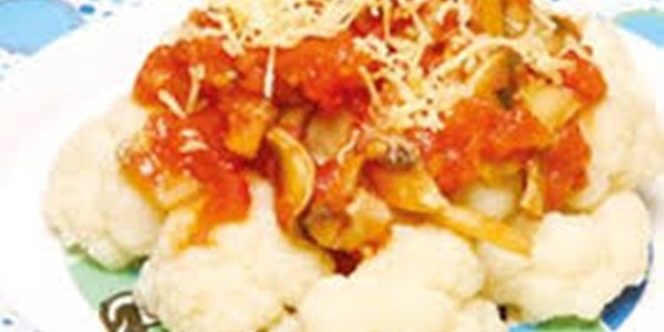 receita couve flor refogada com tomate
