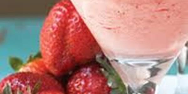 receita drink de morango