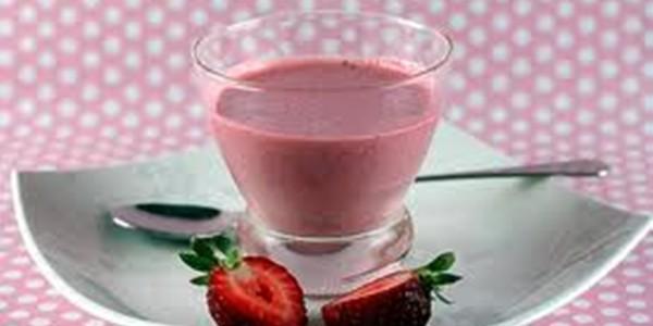 receita gelado de morango diet