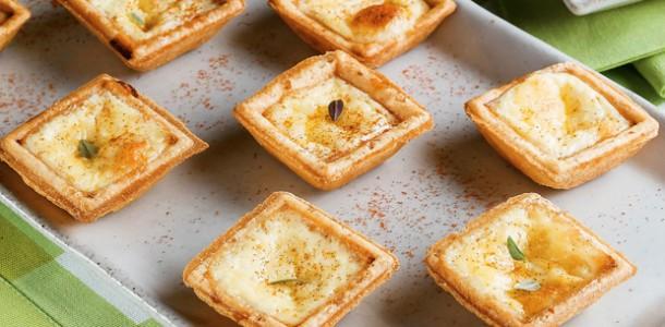 receita minitorta de queijo