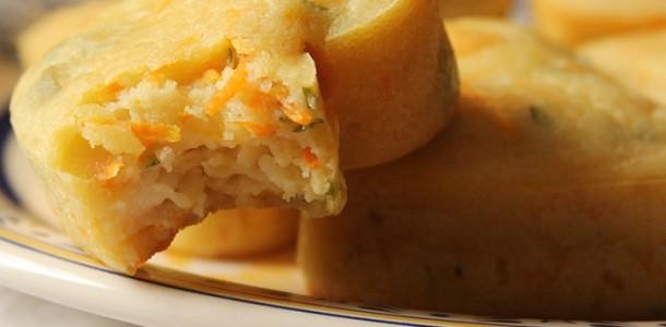 receita muffin salgado de cenoura