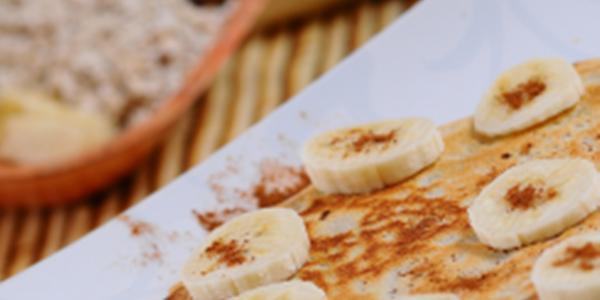 receita panqueca aveia e banana