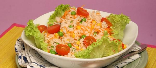 receita salada de arroz
