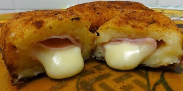 receita bolinho de presunto e queijo