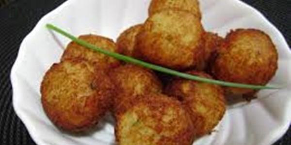 receita bolinho frito de frango