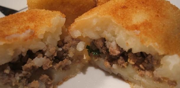 receita bolinhos de batata com carne