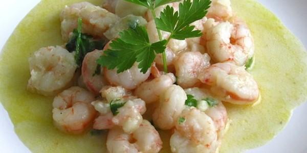 receita camarão simples