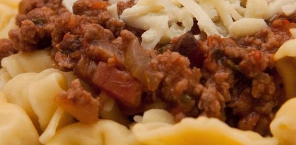 receita capeletti ao molho bolonhesa