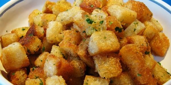 receita croutons caseiros