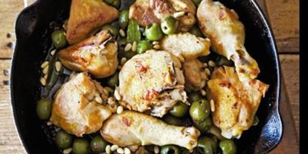 receita frango com azeitonas