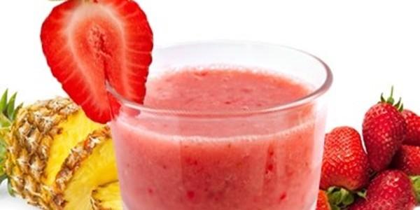 receita suco de abacaxi com morango