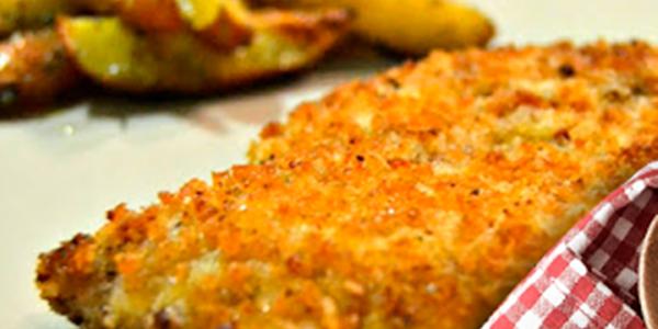 receita frango crocante com queijo