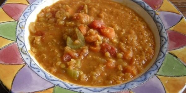 receita sopa de lentilha marroquina