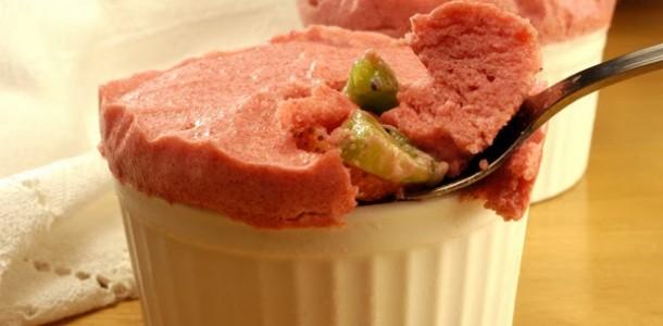 receita suflê diet de frutas gelado