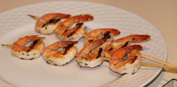receita camarão grelhado