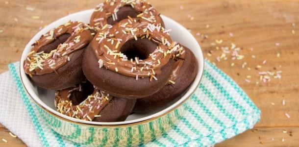 receita donuts de chocolate com nutella