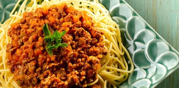 receita espaguete à bolonhesa